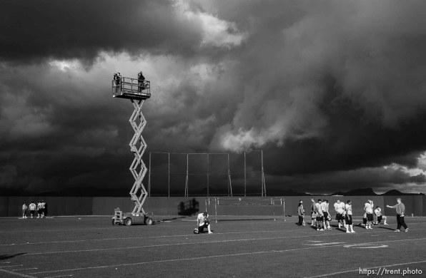 Utah football practice Wednesday afternoon, Scottsdale Community College.
