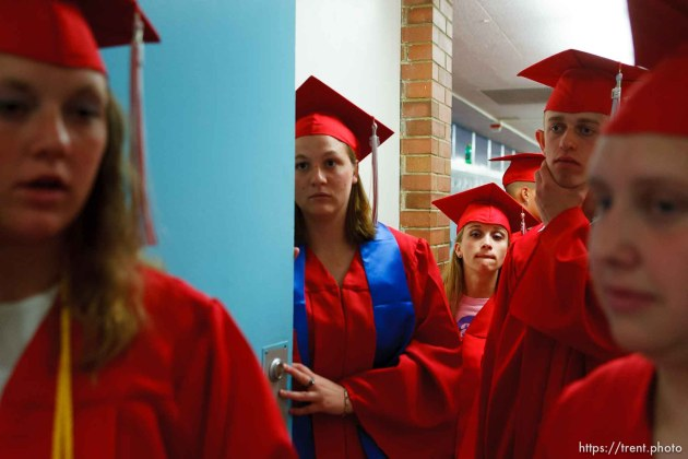 Graduation at East Carbon High School. The final class to graduate before the school was closed and students were transfered to the high school in Price, Utah.; 5.26.2005