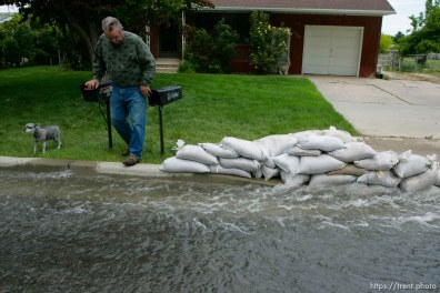 Delyn Hardman. Flooding along 700 South in Tooele Tuesday.