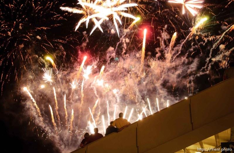 fireworks. Stadium of Fire, Saturday night at LaVell Edwards Stadium, Provo.