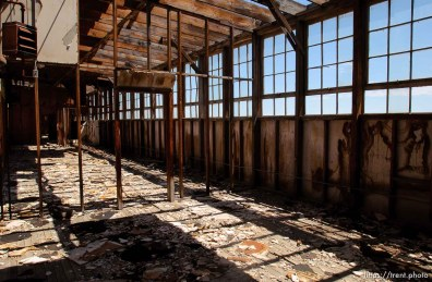 offices in ruins. The Enola Gay Hangar, Wendover Airport.