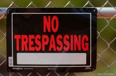 no trespassing private property sign, Colorado City/Hildale.