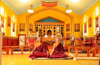 Lama Thupten and Jean Gardner at Salt Lake City's Urgyen Samten Ling Gonpa Tibetan Buddhist Temple.