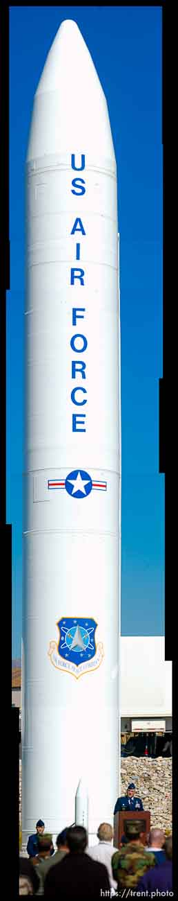 A ceremony was held at Hill Air Force Base Thursday afternoon to mark the progress of the deactivation of the Peacekeeper missile.