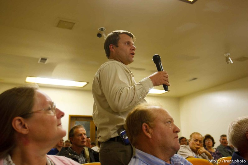 ross chatwin. Bruce Wisan, the court-appointed special fiduciary of the UEP trust, during a meeting in Hildale, Utah, to answer questions regarding property and tax issues.