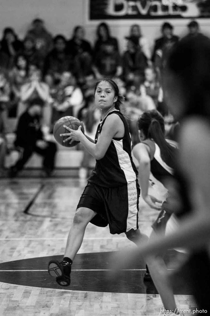 Whitehorse vs. Grand high school girls basketball. Whitehorse wins. 12.08.2005