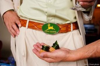 john deere belt buckle. Pete DeLuca and Kristy wedding; 4.21.2006