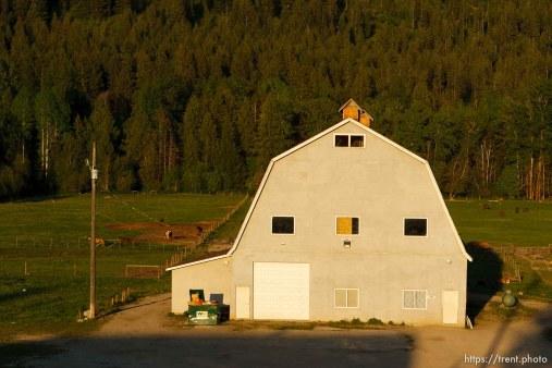 Polygamist Winston Blackmore in Bountiful, British Columbia. the old barn