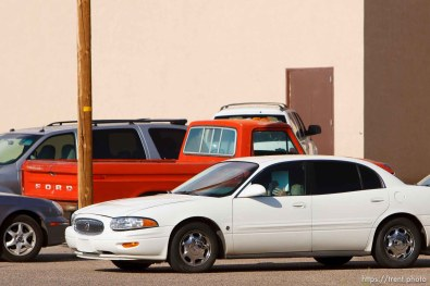 Kelly Fischer leaves the Mohave County Superior Court in Kingman, Arizona during a lunch break at his trial where he faces two felony counts: sexual conduct with aminor and conspiracy to commit sexual conduct with a minor.; 7.05.2006
