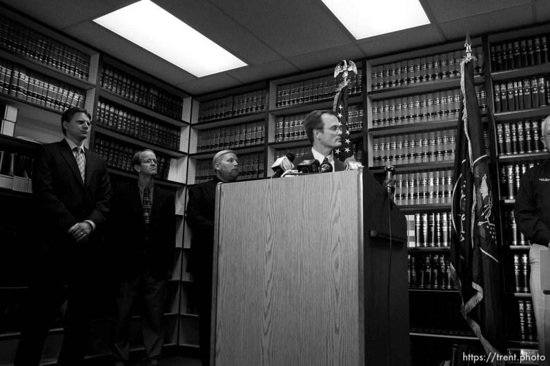 Washington County attorney Brock Belnap, warren jeffs press conference ; 8.31.2006