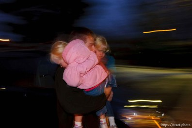 In the pre-dawn darkness, Joseph Lappi carries his daughters Sophie and Lillian (right) into daycare. Tooele - Joseph Lappi came back from serving in Iraq to find his wife pregnant with another man's child and himself the sole caretaker for his four children. Oldest to youngest: Joseph Lappi Jr, Daria Lappi , Lillian Lappi , and Sophie Lappi .