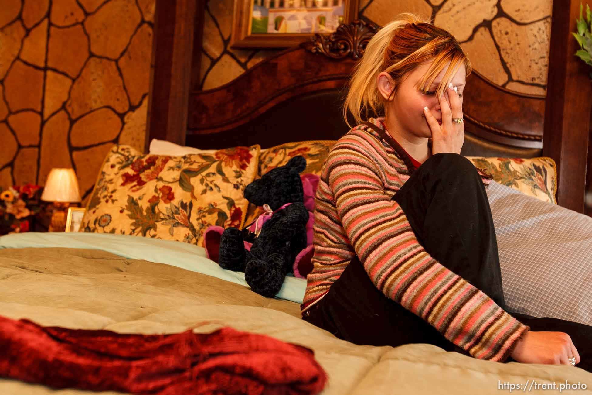 Monika is a 17-year-old girl who was in a long-distance relationship with Trolley Square gunman Sulejman Talovic in the final sixteen days of his life. She was photographed in her bedroom in Amarillo, Texas.