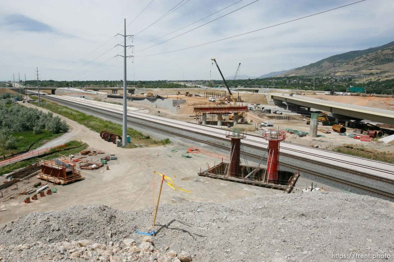Farmington - The Legacy Parkway interchange under construction at I-15 and I-89.