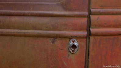 rusty international truck detail at cottonwood park