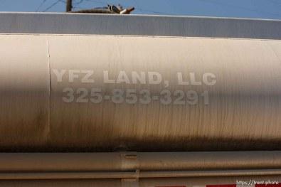 "Eldorado - YFZ truck during raid on the FLDS YFZ ""Yearning for Zion"" compound outside of Eldorado, Texas, Saturday, April 5, 2008."
