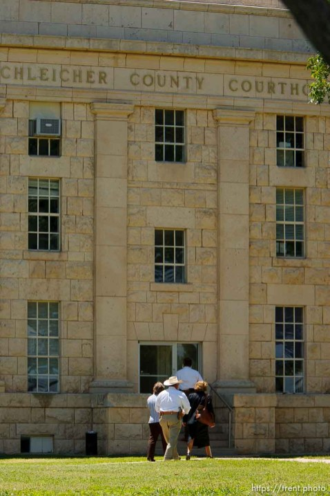 Eldorado - Judge Barbara Walther (with an unidentified baliff) was at the Shleicher County Courthouse Monday, June 2, 2008 for a grand jury hearing. Monday June 2, 2008.