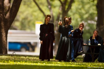Eldorado - at the Schleicher County Courthouse Tuesday, July 22, 2008, where a grand jury met to hear evidence of possible crimes involving FLDS church members from the YFZ ranch.
