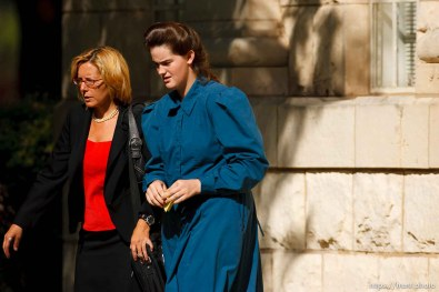 Eldorado - at the Schleicher County Courthouse Tuesday, July 22, 2008, where a grand jury met to hear evidence of possible crimes involving FLDS church members from the YFZ ranch. andrea sloan