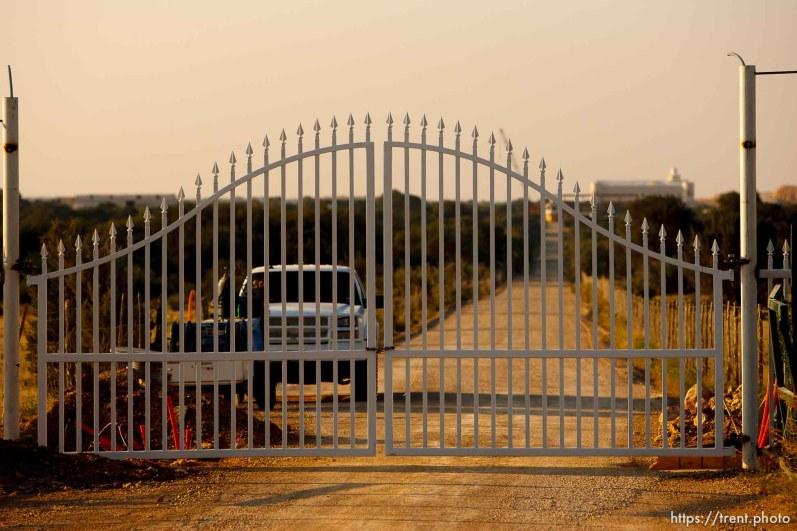 Eldorado - new gate at the YFZ Ranch Tuesday, July 22, 2008.