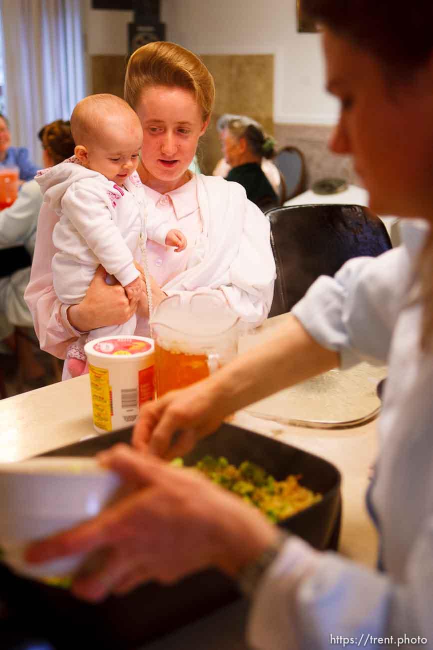 Westcliffe - . Monday, July 28, 2008. woman and baby