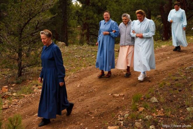 Westcliffe - . Monday, July 28, 2008. women on walk