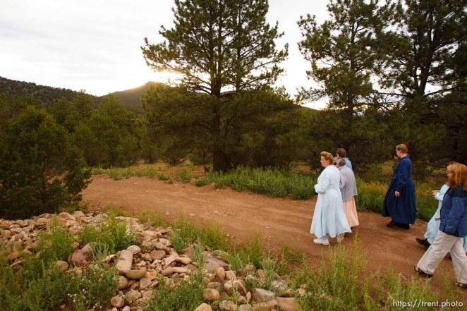 Westcliffe - . Monday, July 28, 2008. women on walk. brooke adams