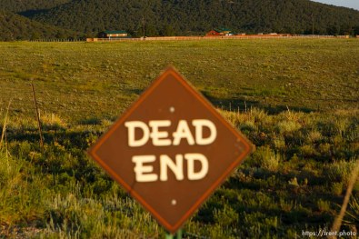 Westcliffe - . Wednesday, July 30, 2008. dead end sign, FLDS home