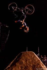 Salt Lake City - James Foster double backflip, BMX Dirt, AST Dew Tour, Friday September 12, 2008.