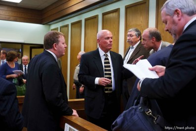 St. George - A hearing at the 5th district courthouse Friday November 14, 2008 on the proposed sale of UEP trust land including Berry Knoll, a site the FLDS say has religious value, was continued after the attorney general's office stepped in and pressured both sides to seek a settlement. zachary shields, bruce wisan, tim bodily, roger hoole