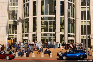 Salt Lake City - A hearing held at the Matheson Courthouse Wednesday, July 29, 2009 to decide on the sale of the Berry Knoll property in the United Effort Plan (UEP) land trust.