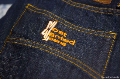 """Hildale -, Wednesday August 12, 2009. Mirinda Barlow in her shop where she sells jeans under the label """"Most Wanted Jeans"""""""