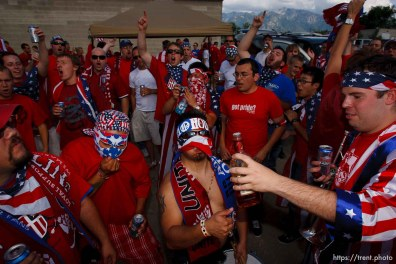 Sandy - USA vs. El Salvador FIFA World Cup Qualifier Soccer Saturday, September 5 2009 at Rio Tinto Stadium. American Outlaws pre-game tailgate