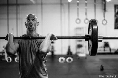 Trent Nelson | The Salt Lake Tribune Zach Lund, an Olympic skeleton slider, training at Gym Jones
