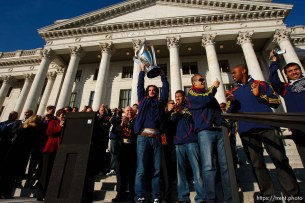 kyle beckerman, Celebration for Real Salt Lake's MLS Cup win Tuesday, November 24 2009.