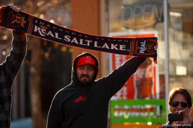 fans line state street. Celebration for Real Salt Lake's MLS Cup win Tuesday, November 24 2009.