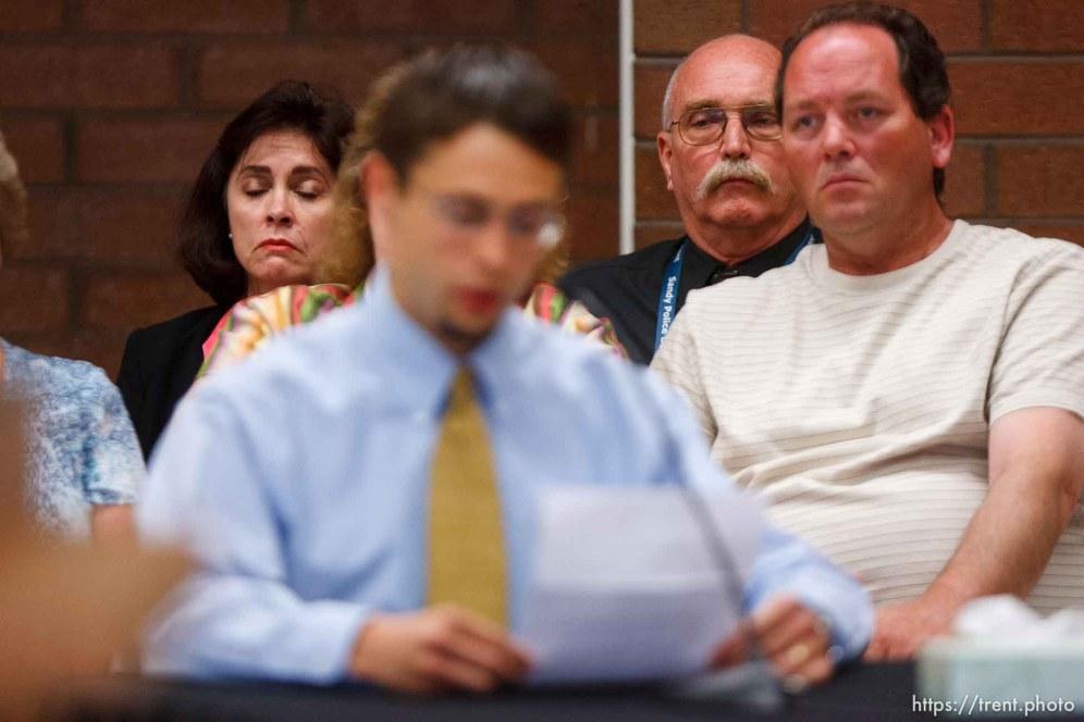 Trent Nelson | The Salt Lake Tribune Draper - Commutation hearing for death-row inmate Ronnie Lee Gardner Thursday, June 10, 2010, at the Utah State Prison. jason otterstrom testifies, kathy potter, craig watson
