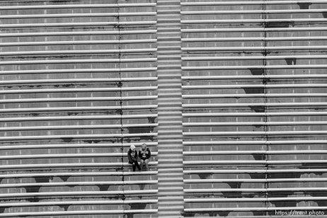 Trent Nelson | The Salt Lake Tribune BYU vs. Colorado State, college football, Saturday, November 13, 2010. fans in empty stands pre-game