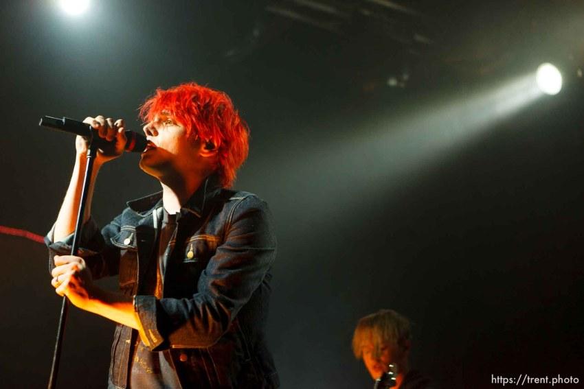 Trent Nelson | The Salt Lake Tribune Gerard Way, My Chemical Romance at In The Venue in Salt Lake City, Utah, Friday, April 8, 2011.