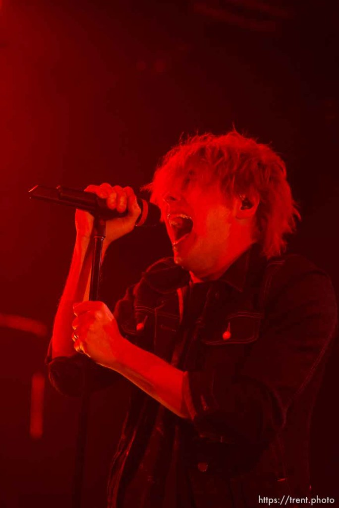 Trent Nelson | The Salt Lake Tribune Gerard Way, My Chemical Romance at In The Venue in Salt Lake City, Utah, Friday, April 8, 2011.