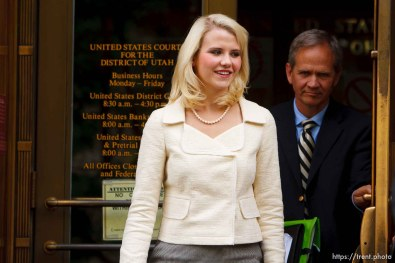 Ed and Elizabeth Smart exit the Frank E. Moss Courthouse after Brian David Mitchell was sentenced to life in prison for his role in the kidnapping of Elizabeth Smart, in Salt Lake City, Utah, Wednesday, May 25, 2011.