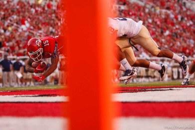 Trent Nelson | The Salt Lake Tribune . Utah vs. Montana State in Salt Lake City, Utah, Thursday, September 1, 2011. john white touchdown