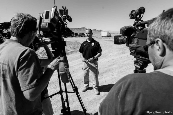 Trent Nelson | The Salt Lake Tribune Mike Powell press conference during search for Susan Powell at Topaz Mountain, Utah, Tuesday, September 20, 2011.