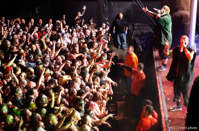 Trent Nelson | The Salt Lake Tribune Insane Clown Posse performs at The Great Salt Air (Saltair) Thursday, October 1 2009 west of Salt Lake City.