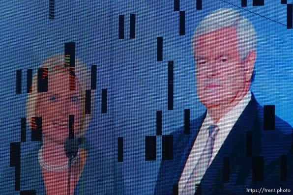 Trent Nelson | The Salt Lake Tribune callista gingrich, newt gingrich at the Republican National Convention in Tampa, Florida, Thursday, August 30, 2012.