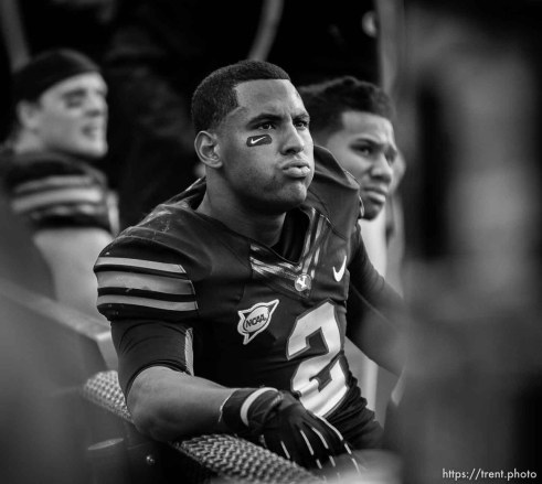 Trent Nelson   The Salt Lake Tribune BYU's Cody Hoffman on the bench in the final seconds of the loss as BYU hosts Oregon State college football Saturday October 13, 2012 in Provo, Utah.