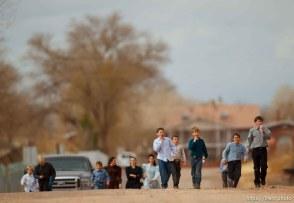 Trent Nelson | The Salt Lake Tribune Children walking through town, Friday November 30, 2012 in Hildale.