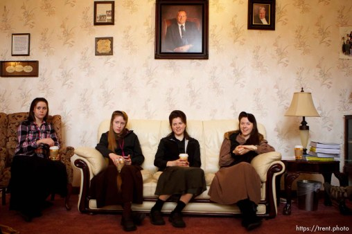 Trent Nelson | The Salt Lake Tribune Allie Steed, Helen Holm and Heidi Holm on Saturday December 1, 2012 in Colorado City. The three young women recently left the FLDS church. Amber at left