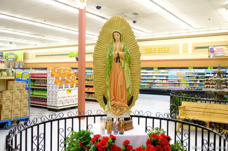 virgin of guadalupe at viva market, Wednesday December 12, 2012