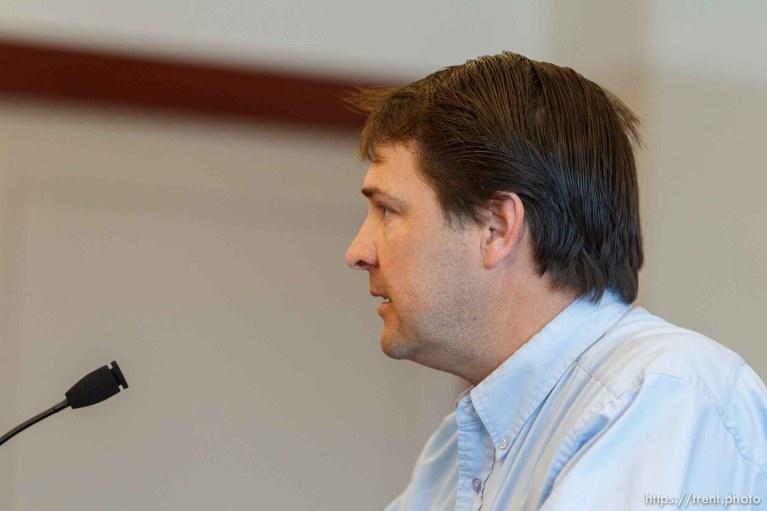 Trent Nelson   The Salt Lake Tribune Leroy Stubbs speaks during a court hearing on the polygamous UEP land trust, Friday April 12, 2013 in Salt Lake City.