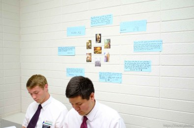 Trent Nelson   The Salt Lake Tribune Missionaries Brigham Shipley and Benjamin Black in a Thai language class at the Missionary Training Center of the Church of Jesus Christ of Latter-day Saints in Provo Tuesday June 18, 2013.